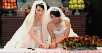 На Тайване смакуют: прошли первые однополые бракосочетания